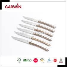 kitchen utestils 6pcs stainless steel laguiole steak knife with
