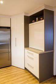 corner pantry appliance pantry roller door contemporary kitchen