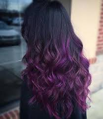 weave hairstyles with purple tips awesome purple tones for our hair magical hair colors pinterest