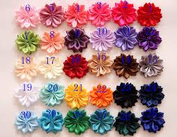 flowers for hair hair clip flowers hair accessories satin ribbon flowers for hair