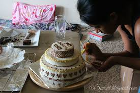 how to decorate a cake at home spusht baking and decorating a three tier cake at home