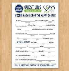 diy printable 5x7 wedding madlibs guestlibs guestbook colors