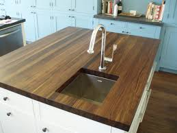 Kitchen Island Chopping Block Edge Grain Wood Countertops Brooks Custom
