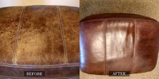 Leather Sofa Dye Repair by Before And After Gallery Leather Medic