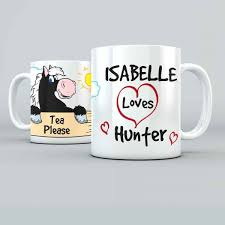 i love my horse cartoon personalised 11oz glossy white tea coffee