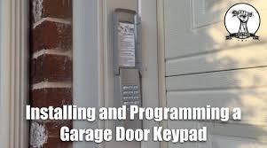 clicker keypad garage door opener how to install and program a garage door opener keypad youtube