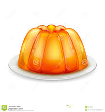 pumpkin no background jelly on plate stock image image 18120351