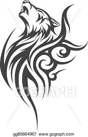 vector stock tribal wolf designs stock clip