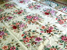 Floral Pattern Rugs Large Chinese Needlepoint Floral Pattern Rug Item 1038861