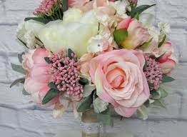 silk flower bouquets silk flower bouquets lovely pink peony wedding bouquet