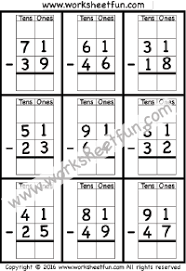 subtraction regrouping free printable worksheets u2013 worksheetfun