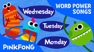 seven days days of the week song word power pinkfong songs