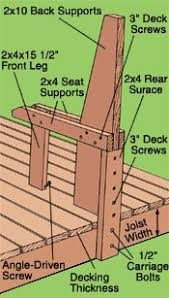 Deck Wood Bench Seat Plans by Built In Bench With Storage Patio Furniture And Outdoor