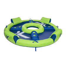 Inflatable Pool Floats by Kelsyus Big Nauti 4 Person Inflatable Pool Float Tube Raft Green