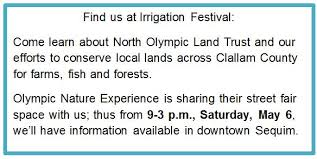 olympic land trust sequim irrigation festival and its importance