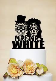 sugar skull cake topper sugar skull cake topper skeleton cake topper mr and mrs wedding