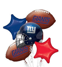 balloon bouquet nyc new york giants balloon bouquet 5pc party city football party