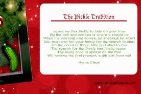 christmas pickle start the christmas pickle tradition family focus