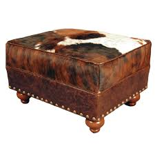 southwestern chairs and ottomans cowhide medium ottoman home decor western southwestern rustic