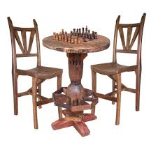 chess table and chairs set rustic outdoor game tables patio game tables rustic game chess