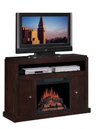 tv stand with electric fireplace and mini fridge place a plasma