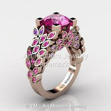 amethyst gold rings images Best rose gold pink amethyst ring products on wanelo jpg
