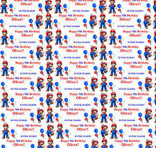 mario wrapping paper tv and wrapping paper ebay
