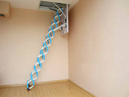 electric remote control folding telescopic loft ladder attic stair