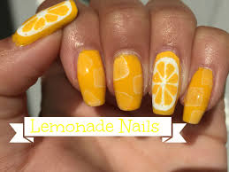 lemonade nail art tutorial youtube