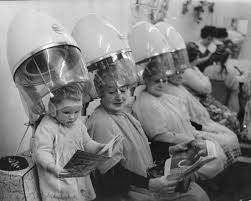 old fashinoned hairdressers and there salon potos vintage hair dryer photos that make it seem cool under the hood