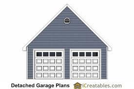 2 Car Detached Garage 22x22 2 Car 2 Door Detached Garage Plans