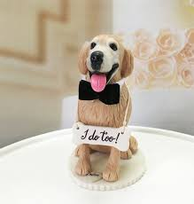 wedding cake topper with dog 4 6 custom golden retriever wedding cake topper by dogcaketopper