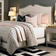 light grey upholstered bed upholstered bed in grey