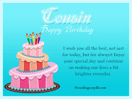 Free Sample Birthday Wishes Birthday Wishes For Cousin Wordings And Messages