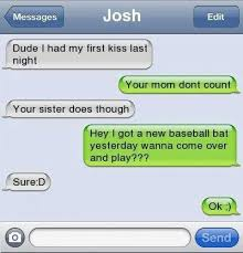 Funny Text Messages Jokes Memes - funny text first kiss