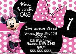 minnie mouse invitations minnie mouse pink birthday invitations jpg