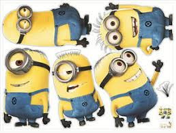 5 Minions Despicable Me 2 Removable Wall Stickers Decal Kids Room