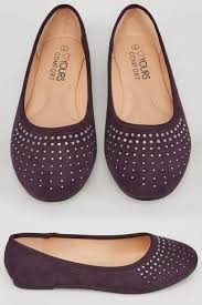 Comfort Flat Shoes Wide Fit Pumps Yours Clothing