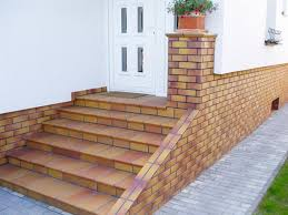 Tiles For Stairs Design Building Exterior Stairs With Classy Bricks And Modern Tiles