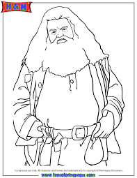 giant rubeus hagrid harry potter movie coloring