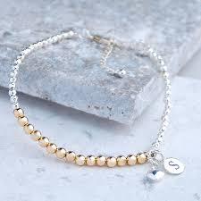 rose gold bead bracelet images Personalised silver and rose gold bead bracelet by penelopetom jpg