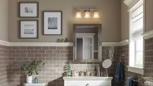 Bathroom Lighting Fixtures Lowes Interesting Plain Lowes Bathroom Light Fixtures Brushed Nickel For