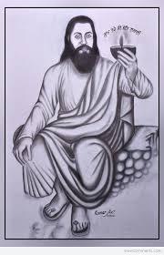 pencil sketch of guru ravidass ji desicomments com