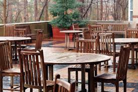 dining room alcove exterior terrace kenan center