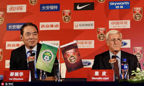 Football Conference Table Marcello Lippi Attends The Cfa Team China Press Conference In