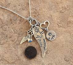pet memorial necklace handmade personalized pet remembrance necklace mamma s closet