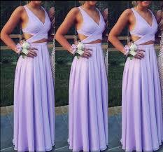 light purple long dress cute two piece formal dresses 2018 chiffon light purple prom