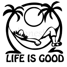 jeep life decal life u0027s good relax palm tree car decal window auto laptop wall