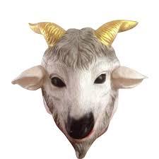 Realistic Halloween Costumes Aliexpress Com Buy Halloween Costume Animal Mask Full Head Goat