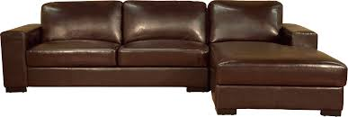 Futura Leather Sofa L Shaped Brown Leather Sectional Sofa With Right Chaise Lounge